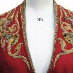 Jacket, hand-embroidered by Michele Carragher
