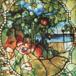 Four seasons window, summer panel, 1892. Louis Comfort Tiffany stained glass art