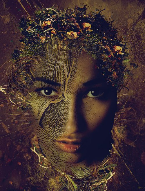 Golden Lady. Photomanipulation by Serbian digital artist Bojan Jevtic