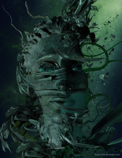 Green Day. Photomanipulation by Serbian digital artist Bojan Jevtic
