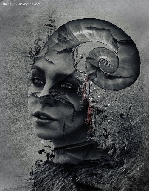 Happy, whatever. Photomanipulation by Serbian digital artist Bojan Jevtic
