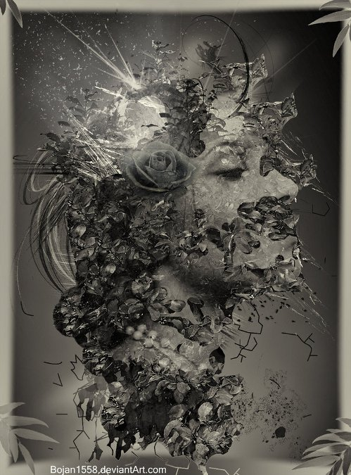 In The Mirror. Photomanipulation by Serbian digital artist Bojan Jevtic