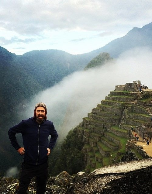 English artist Dan Hillier in Machu Picchu