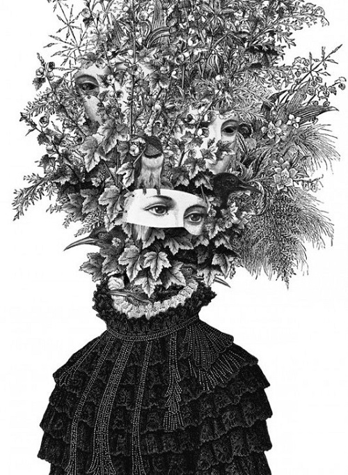 Ink drawing by Stoke Newington based artist Dan Hillier