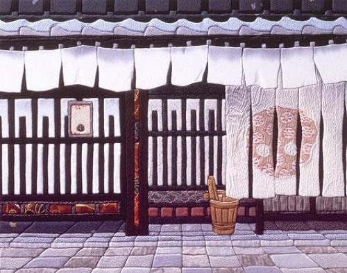 Traditional Japanese patchwork Kinusaiga art