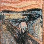 Munch's masterpiece has been brilliantly reconstructed using only tiny Lego bricks, emphasizing quite how versatile the toy building blocks can be