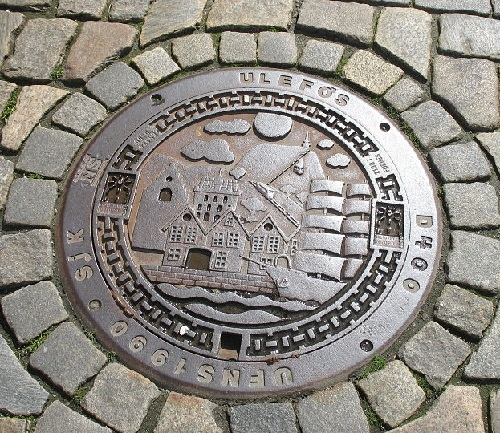 Manhole cover in Bergen Norway