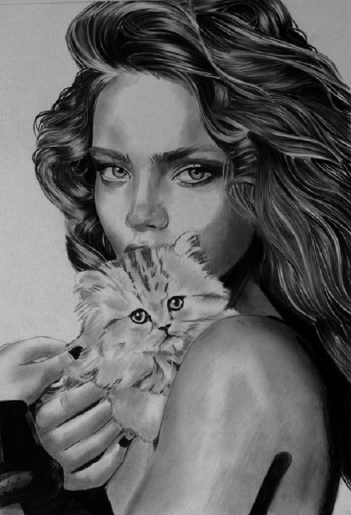 Portrait of Natalia Vodianova