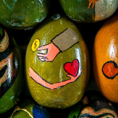 Painted Egg Mosaics by Ukrainian artist Oksana Mas