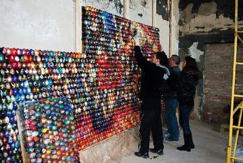 Painted Egg Mosaics by Oksana Mas
