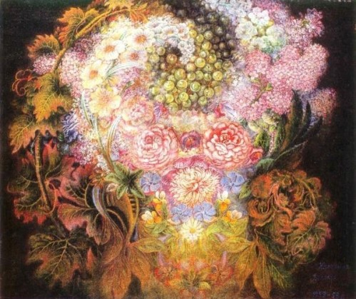 Painting by Ukrainian folk artist Yekaterina Belokur