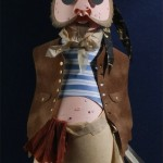 Pox, ship's cook. Paper sculpture by British artist Sher Christopher