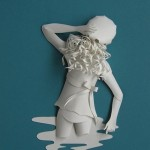 Paper sculpture by British artist Sher Christopher