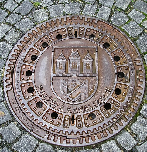 Prague manhole cover