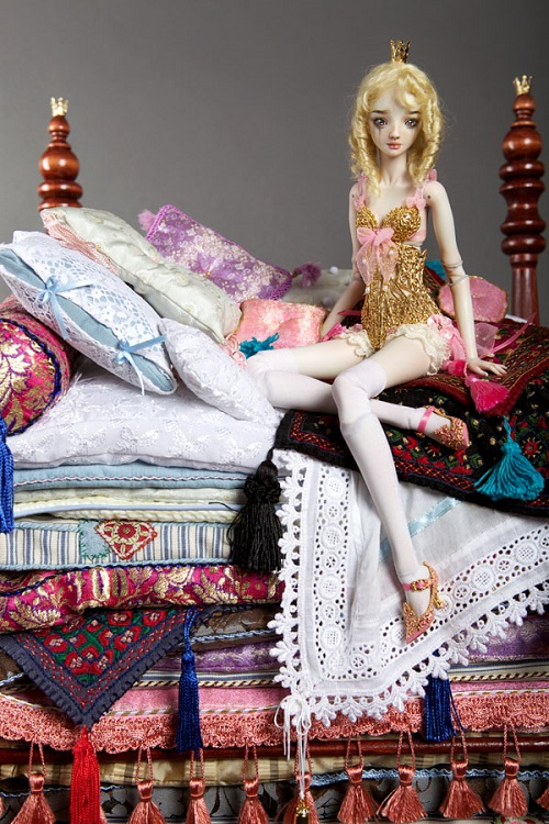 Princess and the Pea. Artwork by Doll Artist Marina Bychkova