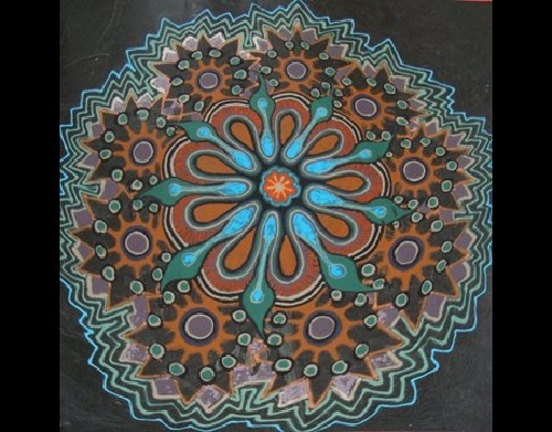 Sand mandala created by Joe Mangrum