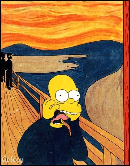 Simpson in Edvard Munch's Scream