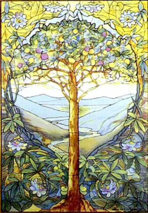 Stained Glass 'Tree of Life' by Louis Comfort Tiffany