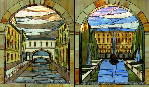 Stained glass art by Moscow based artist Svetlana Mihailova