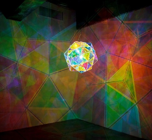 Olafur Eliasson light installation. The Museum of Art in Seoul