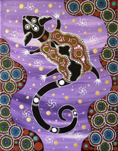 Sugar Glider. Aboriginal art by Melanie Hava