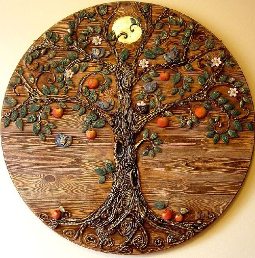 Symbolism handmade. Panel 'Tree of Life'. Keramo Mano ceramic art studio