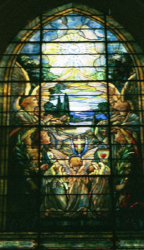 The New Creation, by Louis Comfort Tiffany Stained glass window at Brown Memorial Presbyterian Church, Baltimore, Maryland