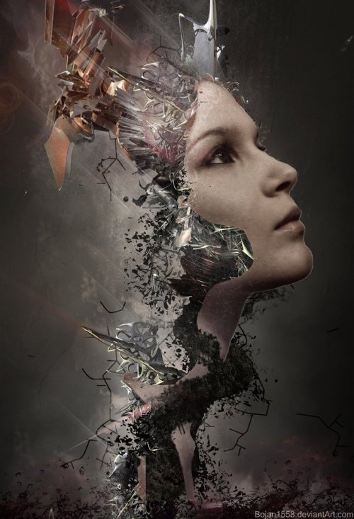 Then She Found Me. Photomanipulation by Serbian digital artist Bojan Jevtic
