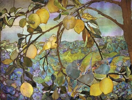 Glass Mosaic Panel. Louis Comfort Tiffany Studios. Favrile glass, cement