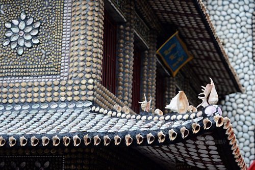 Traditional Chinese house decorated with seashells. Creation by a self-taught architect Xiao Yongsheng