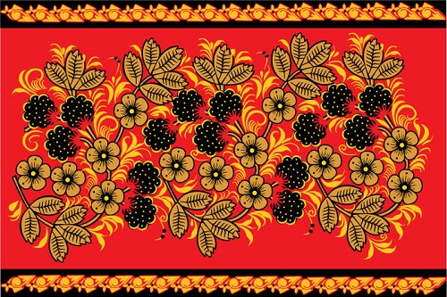 Traditional Khokhloma ornament