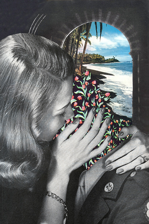 Treasure Island. From the series of collages 'Oh, L'amour'