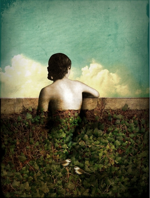 Vintage collage illustration by Catrin Welz-Stein