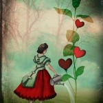 Vintage inspired collage illustration by Catrin Welz-Stein