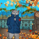 Walking in autumn can be romantic