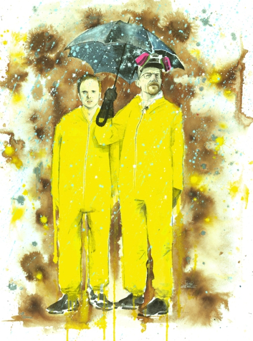 Breaking bad, watercolor painting by Russian artist Lora Zombie