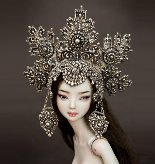 Elena the beautiful. Artwork by Doll master Marina Bychkova