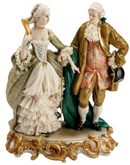 lace porcelain figurines