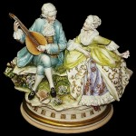 the Baroque era musician, romantic figurines