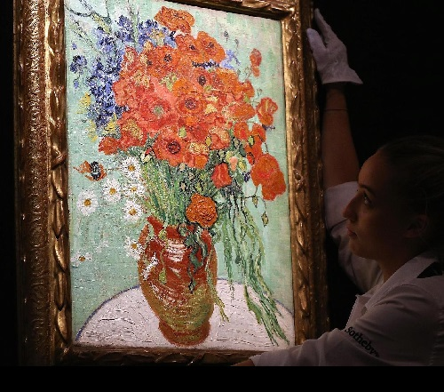 62 million dollar painting by Van Gogh - Vase with daisies and poppies