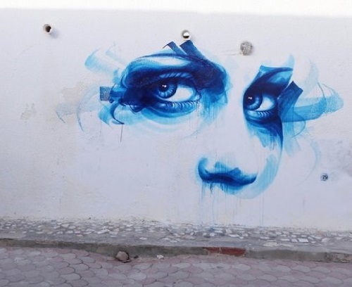 Erriadh Open-Air Street Art museum, Tunisia. Street artist Dan23, France
