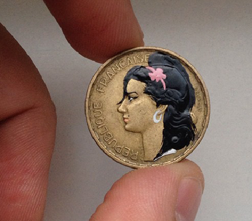 Amy Winehouse on a French coin