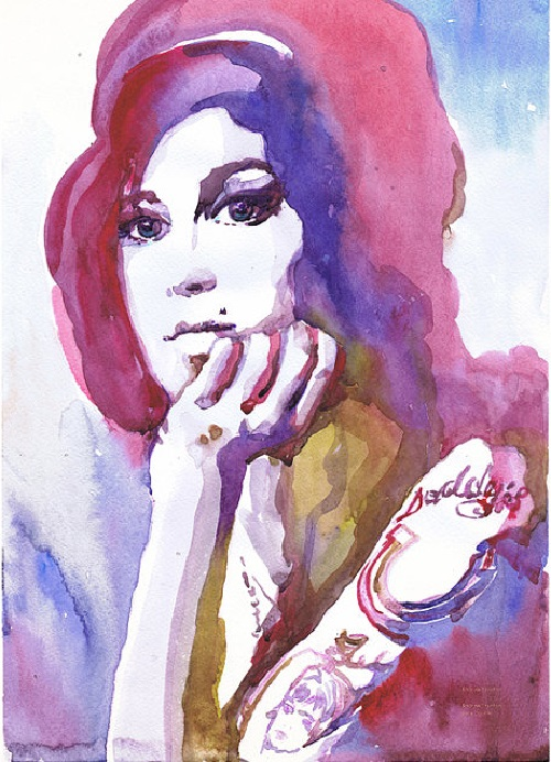 Amy Winehouse. ValrArt watercolor portraits