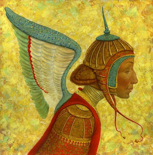 Angel. Painting by Russian artist Alexey Ezhov, St. Petersburg