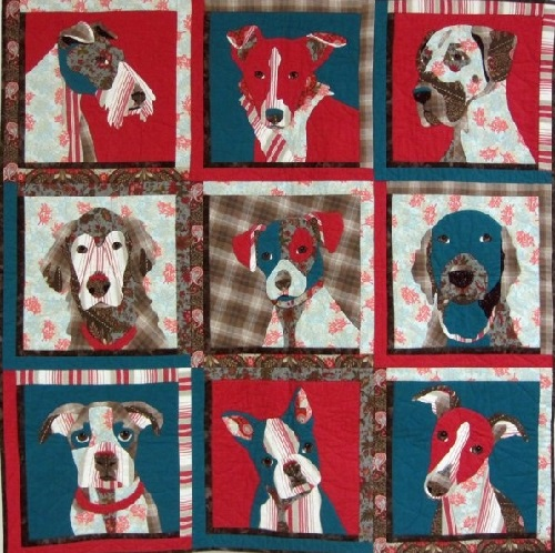 Animal quilts by Californian artist of applied art Nancy S. Brown