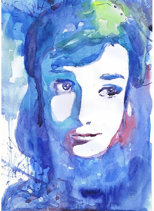 Audrey Hepburn. ValrArt watercolor portraits