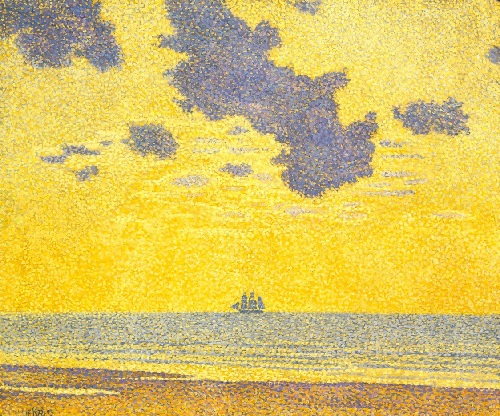 Big Clouds. Belgian neo-impressionist painter Theo van Rysselberghe, 1893. The Indianapolis Museum of Art