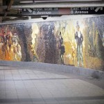 Circus of Earthly Delights. Mosaic mural by Eric Fischl. 34th Street Subway Station, NYC