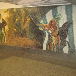 Earthly Delights. Mosaic mural by Eric Fischl. 34th Street Subway Station, NYC
