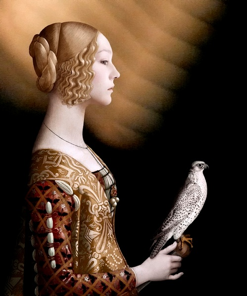 Domenico Ghirlandaio. Photoart by French artist Sabine Pigalle